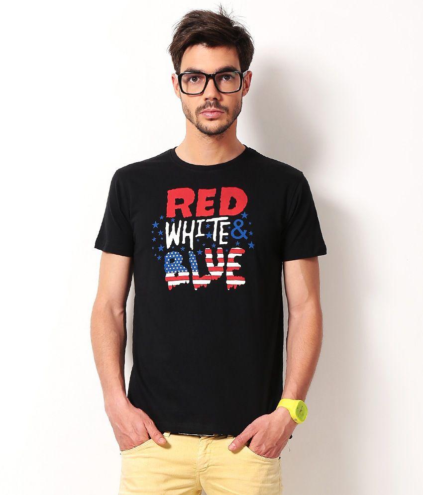 Locomotive Black Half Cotton Round  T Shirt