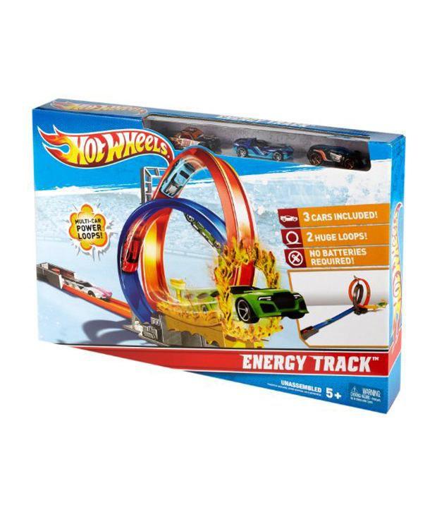 New Hot Wheels Mattel Energy Track Die Playset with 3 cars Film, telewizja i gry wideo