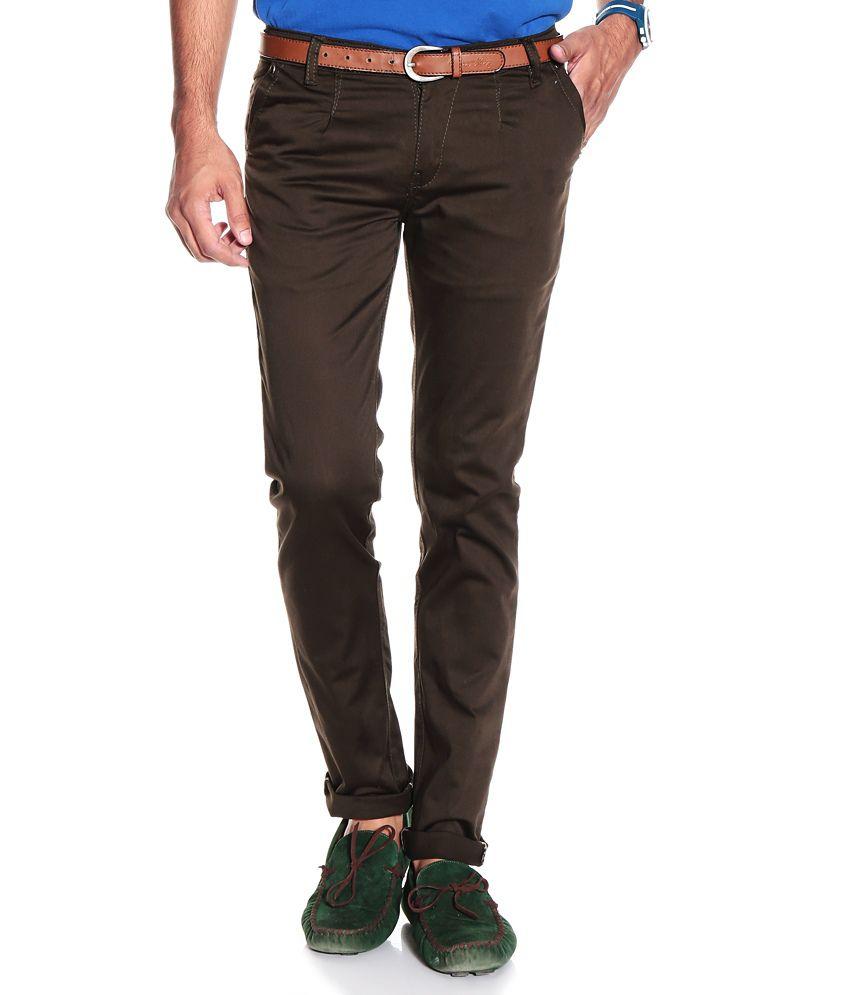 VAM Jeans Dark Brown Cotton Chinos