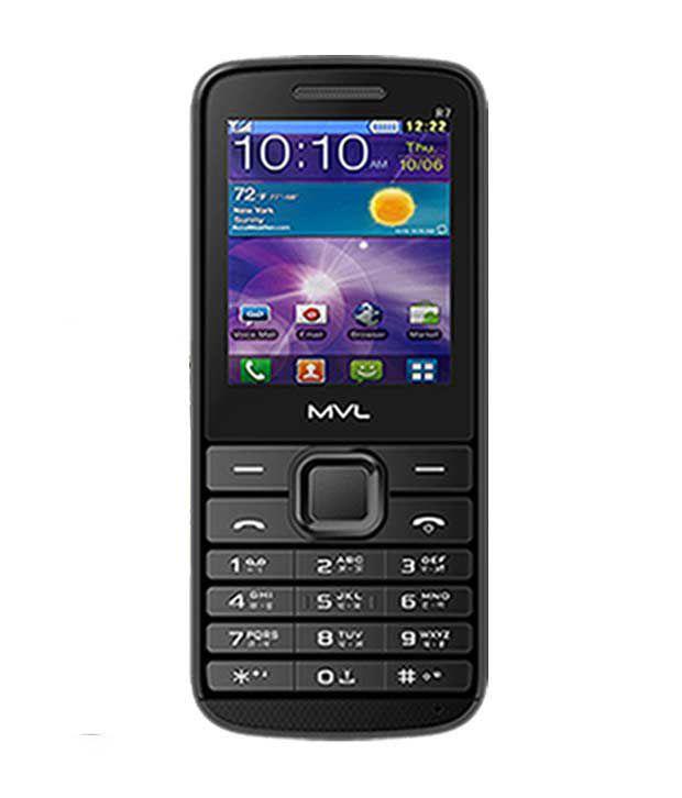 MVL Dual Sim Mobile-R7 (Black)