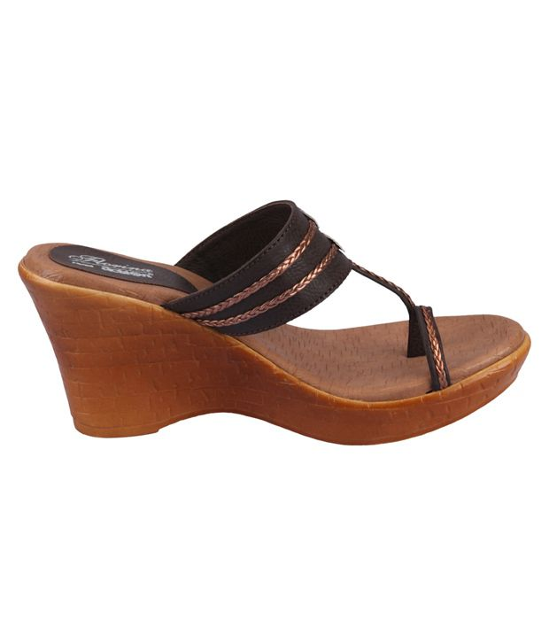 1e4aa5d7ba Action Florina Brown Wedges For Women Price in India- Buy Action ...
