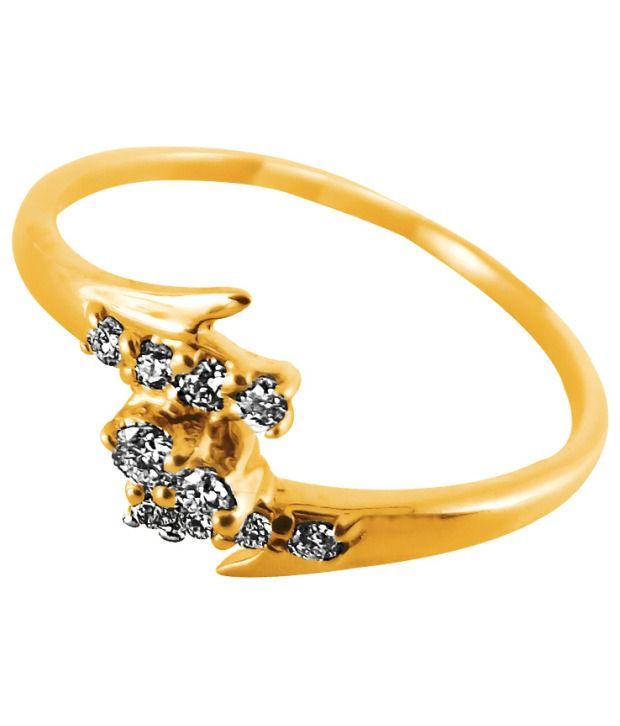 JPEARLS (PRECIOUS) 18 KT HALLMARKED KATIE DIAMOND FINGER RING