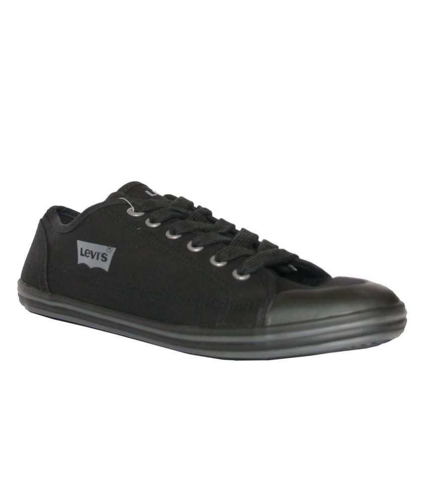 119b22411f2 Levi s Black Canvas Shoes - Buy Levi s Black Canvas Shoes Online at Best  Prices in India on Snapdeal