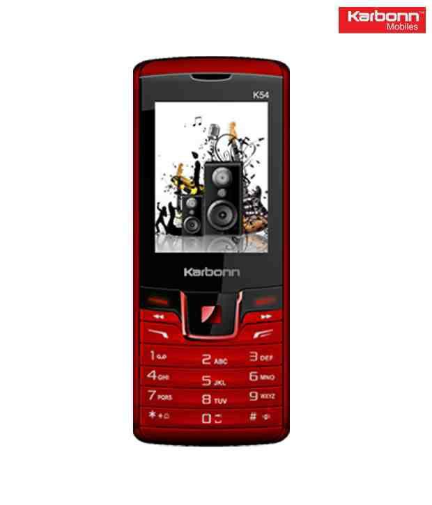Karbonn K54 Black-Red