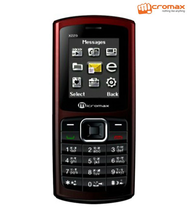Micromax X233 (Red & Coffee)