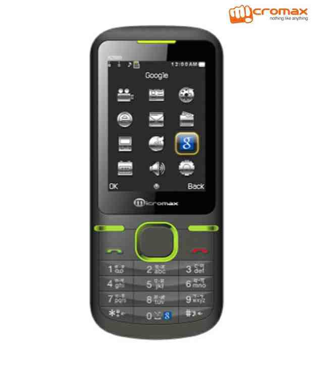 Micromax X288(Black Green)