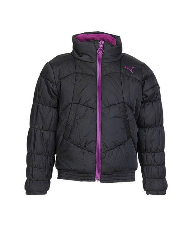 Puma Black Jackets & Blazer For Girls