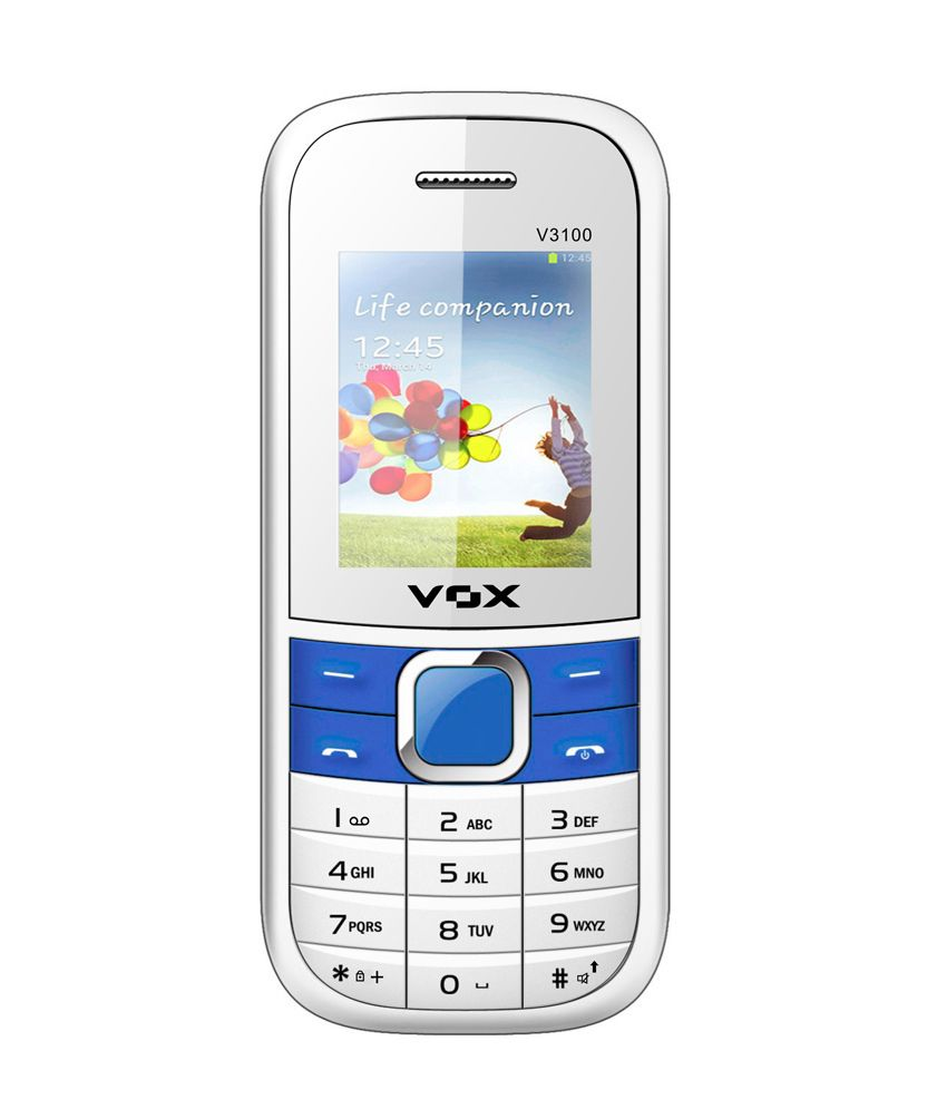 V3100 White - 3 SIM Full Multimedia Phone