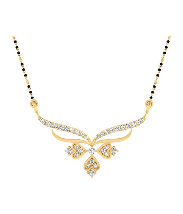 Forever Carat Real Diamond 0.17 ct Mangalsutra in 100% Certified 925 Sterling Silver