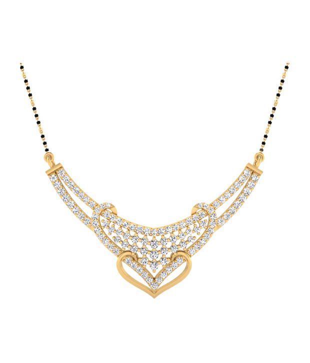 Forever Carat Real Diamond 0.78 ct Mangalsutra in 100% Certified 925 Sterling Silver