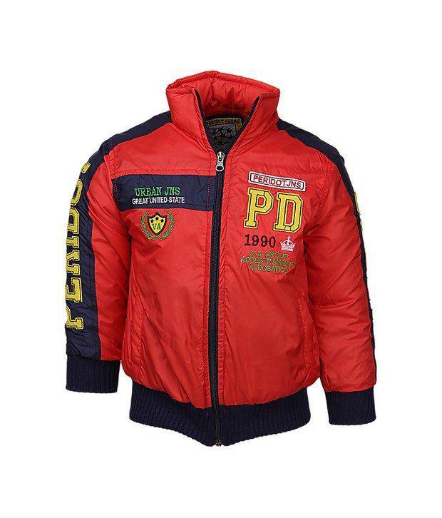 Peridot Red Jackets & Blazer For Girls