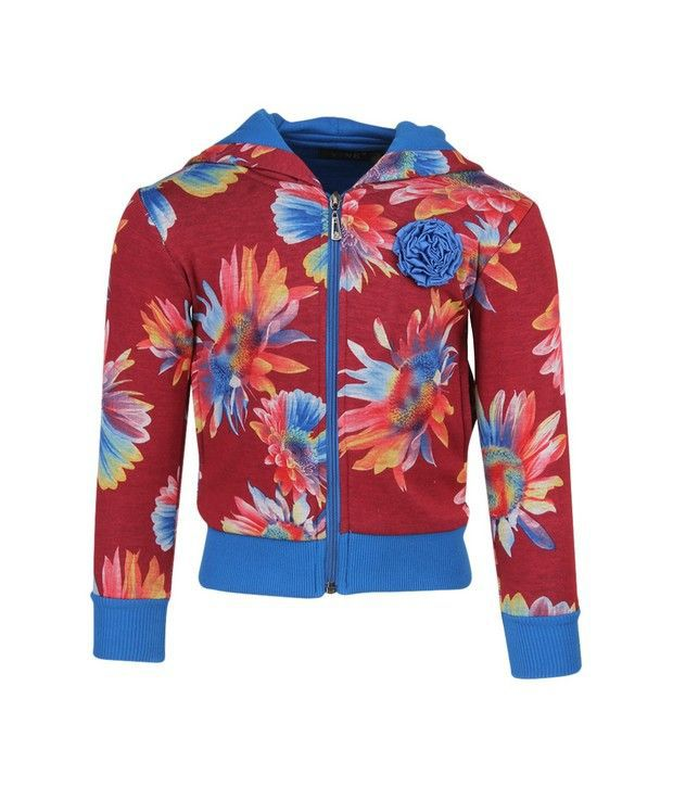 Vine Maroon Sweatshirt For Girls