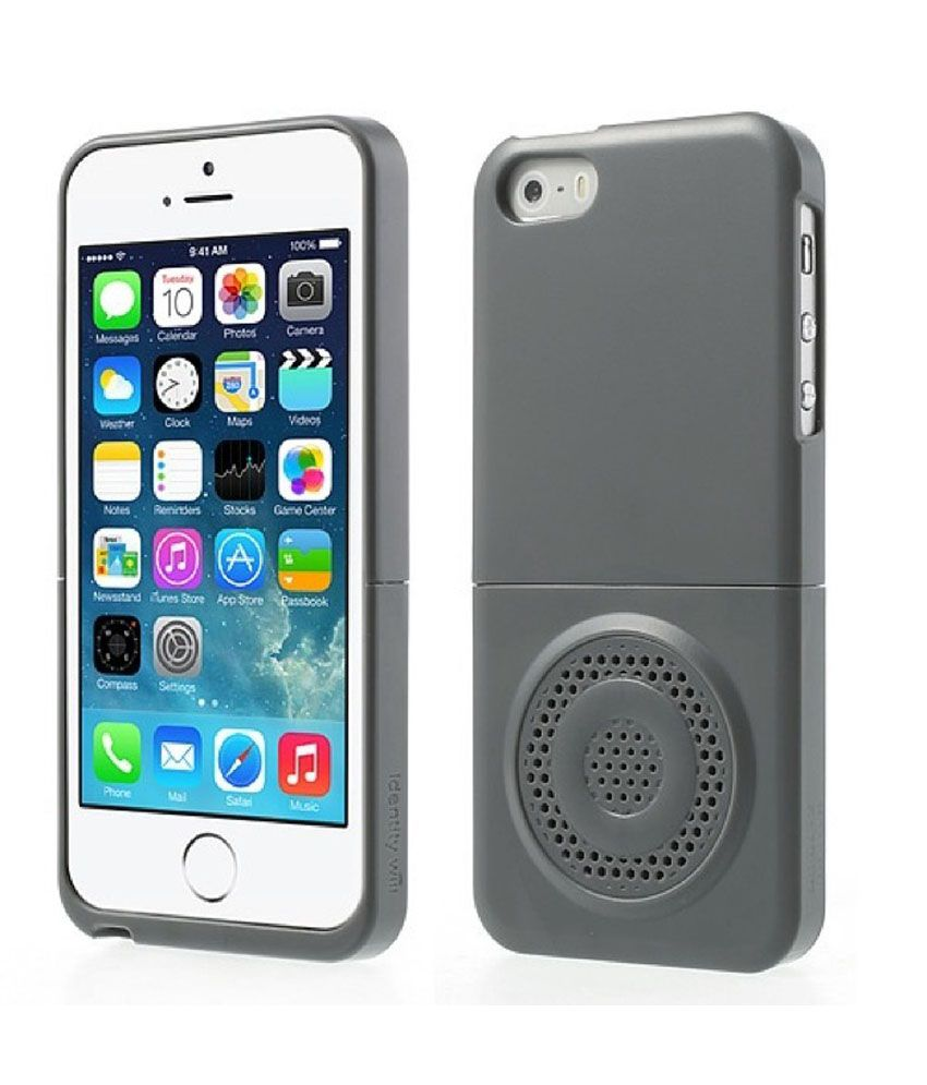 53bf31ec999 iFace Identity Will Speaker Case for iPhone 5 5S - Grey - Plain Back Covers  Online at Low Prices