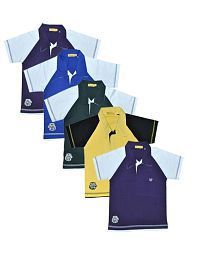 Goodway Pack of 5 Half Sleeves Multi Colors Polo T-Shirts For Boys