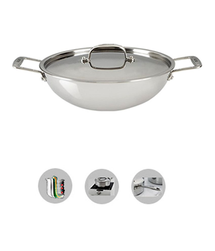 Alda Tryply Stainless Steel Wok Pan With Lid 20cm Buy Online At