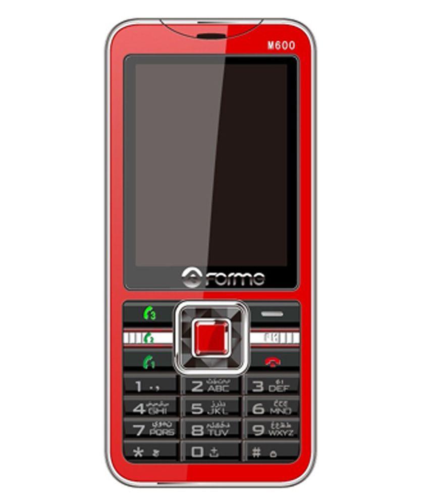 Forme M600 32MB Triple SIM Mobile Phone Red