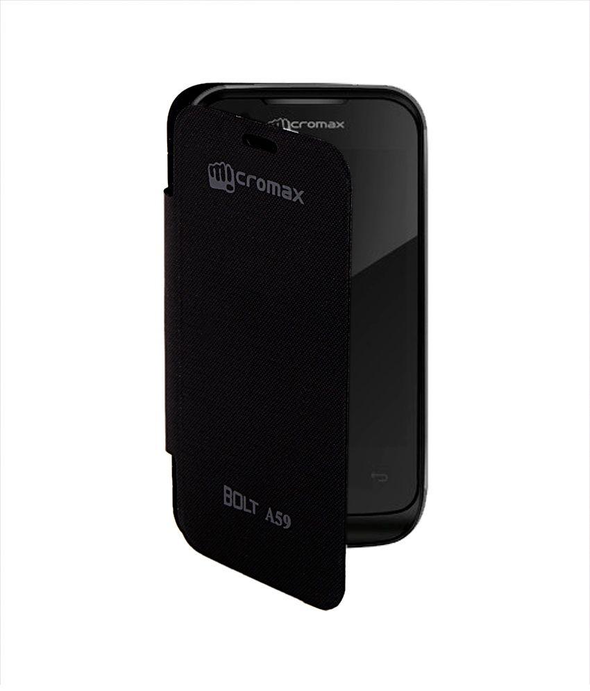 Kolor Edge Flip Cover For Micromax Bolt A59 -Black