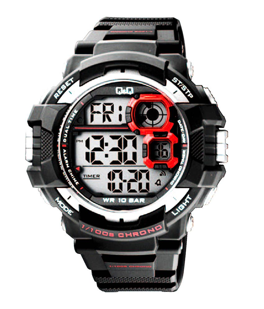 q q digital watch dial dw multi strap black buy q q digital watch dial dw multi strap black