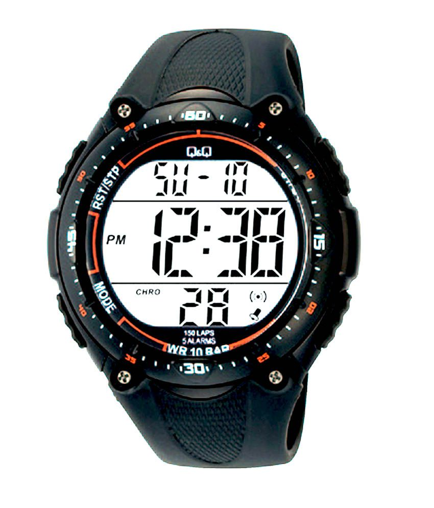 Q q digital watch dial aa white strap gray buy q q digital watch dial aa white strap gray for Q q watches