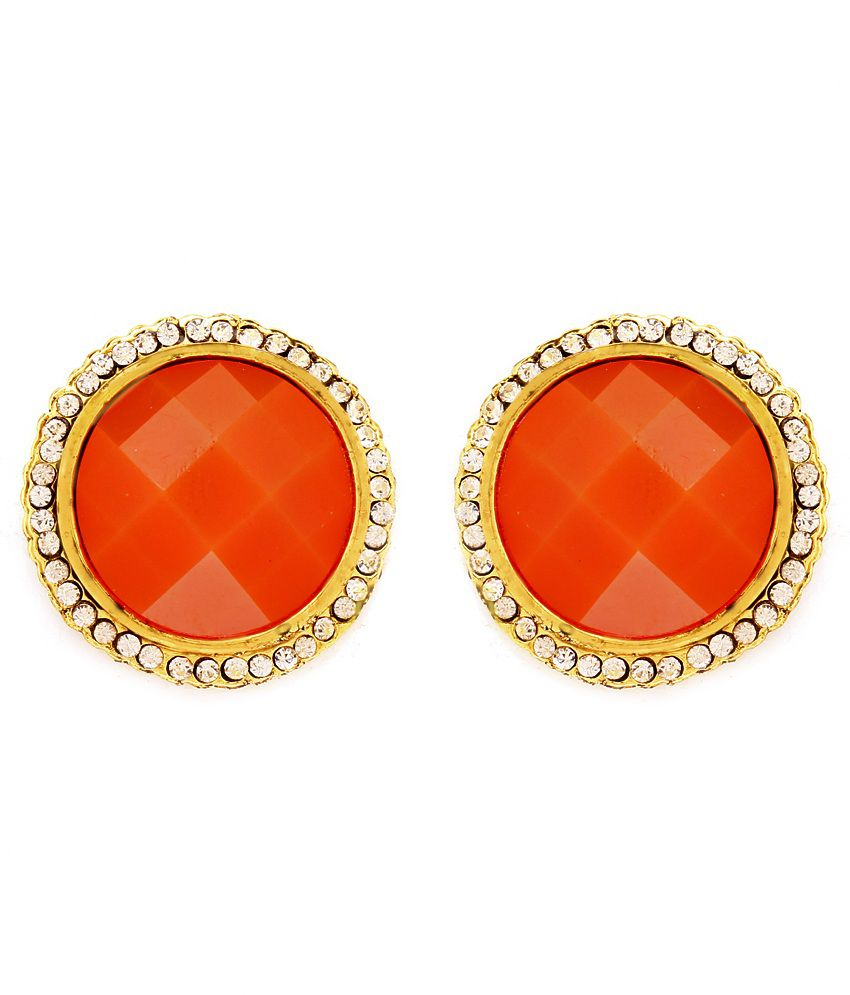 Showstopper Faceted Orange Shine Earrings