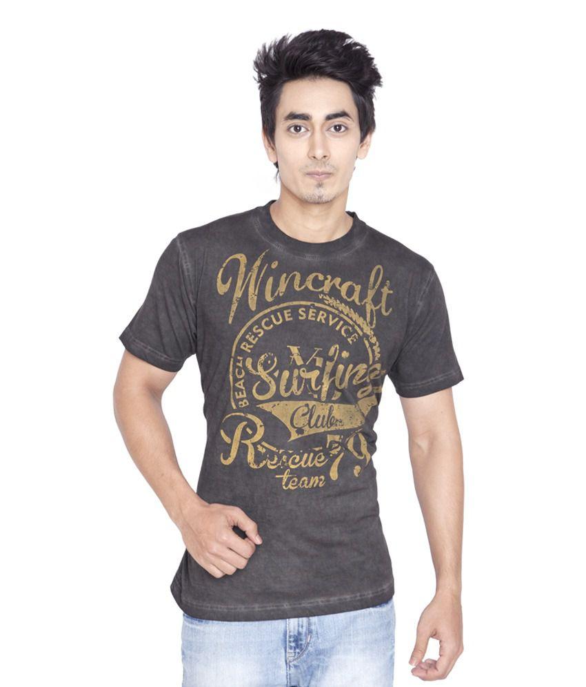 Wincraft Black Half Cotton Round  T-Shirt
