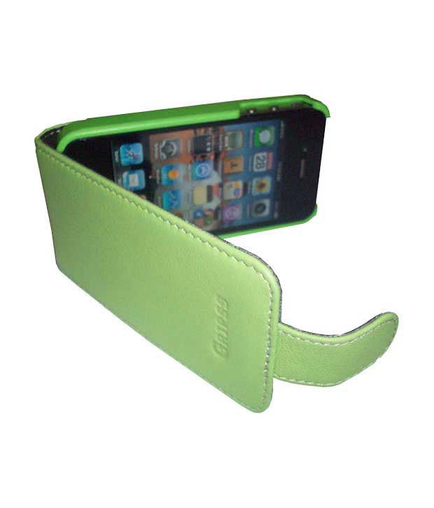 Gripss Iphone 4/4s Leather Cover-GSMC 1001-A011 (Green)