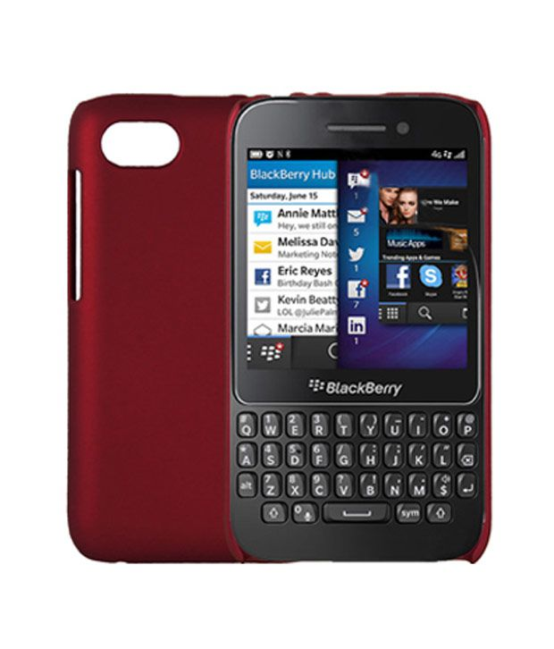 new product 2ef71 dcfe9 Mono BlackBerry Q5 Back Cover- Maroon