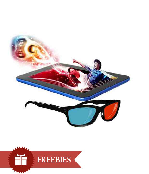 Swipe 3D Life Plus with 3D Glasses (3G via Dongle + Wifi, Blue)