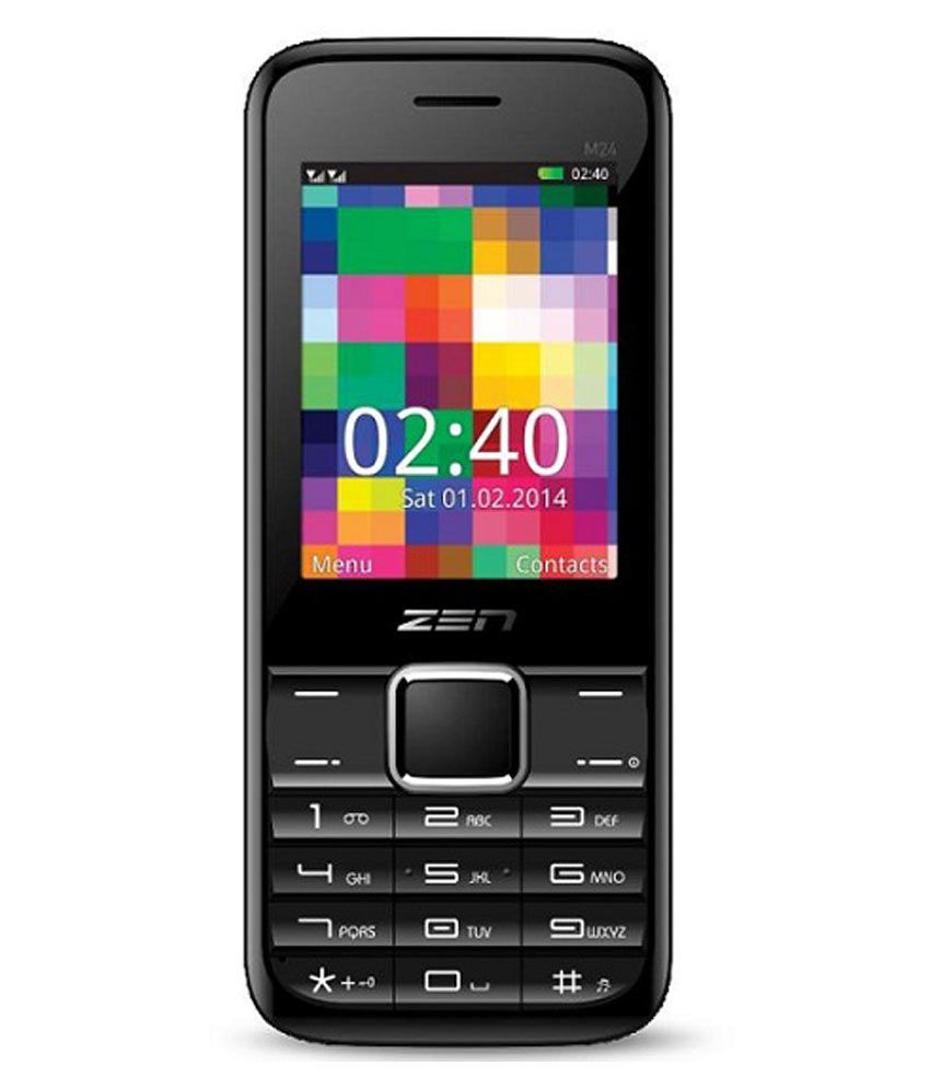 Zen M24 Black Phone with Auto Call Recorder