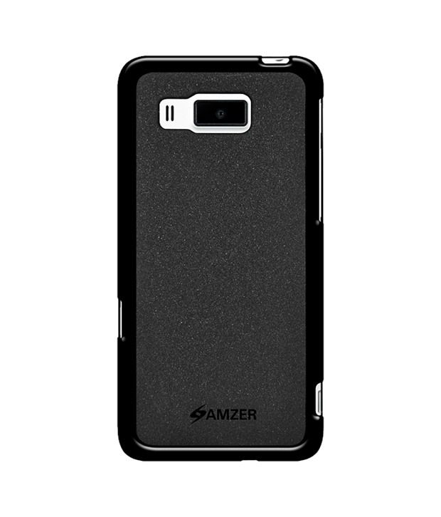 Amzer 96281 Pudding TPU Case - Black for Huawei Ascend W2