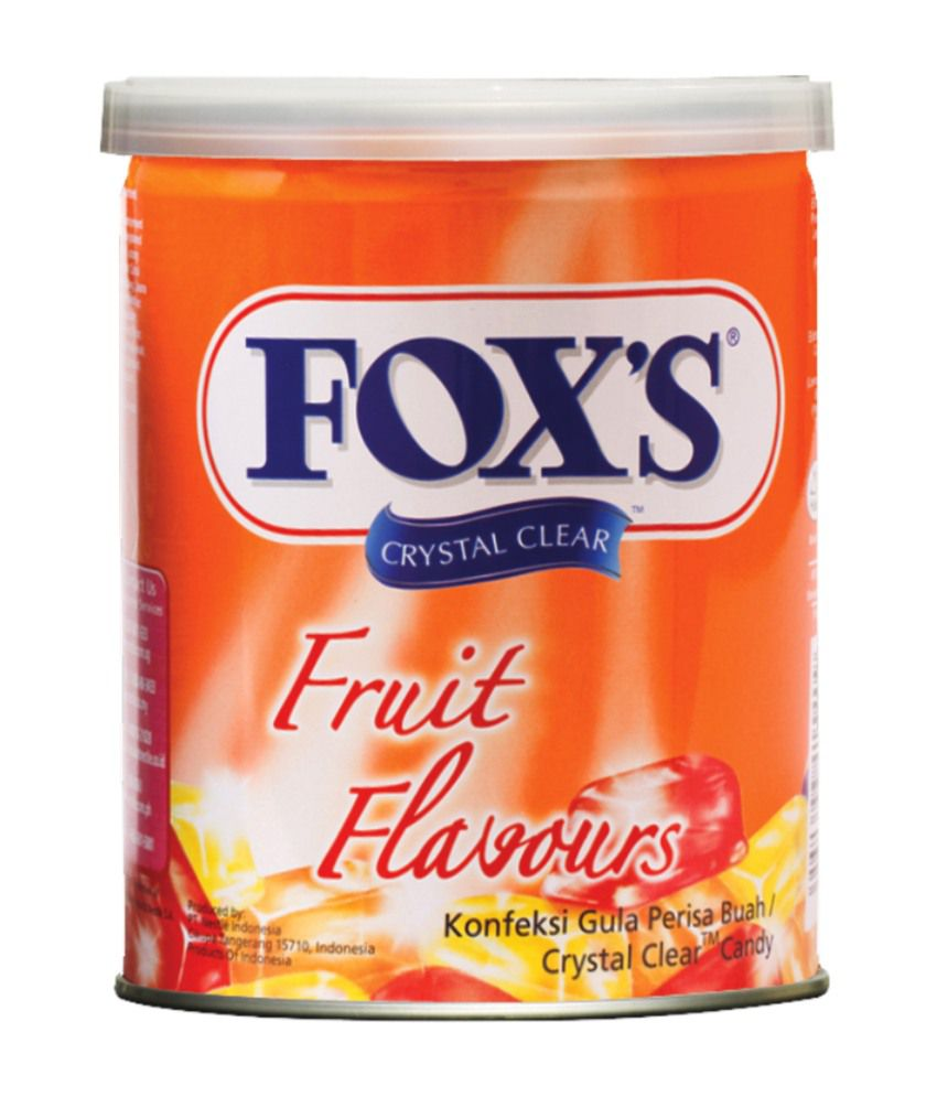 Fox S Crystal Clear Fruits Flavored Candy 180 G Fox S
