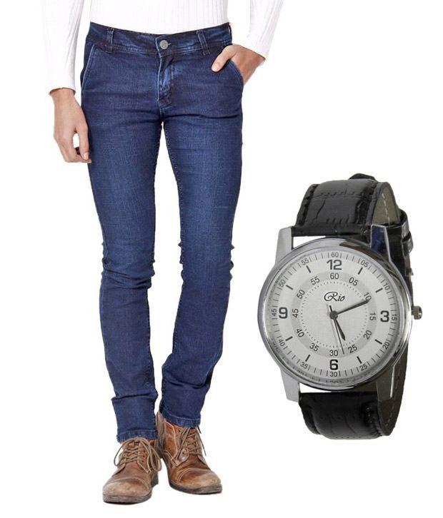Skeeper Blue Regular Fit  Jeans