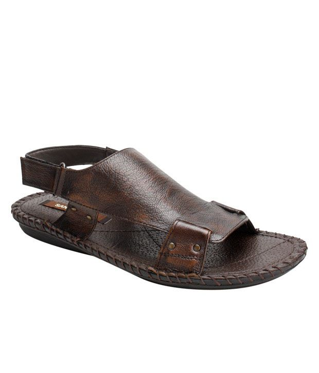San Frissco Brown Slip-on Sandals