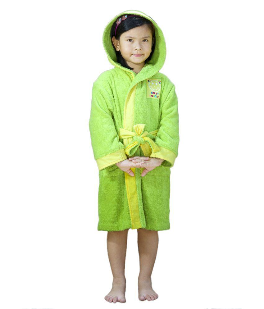 Spaces Smart Wonder Lime Yellow Kids Bath Robe