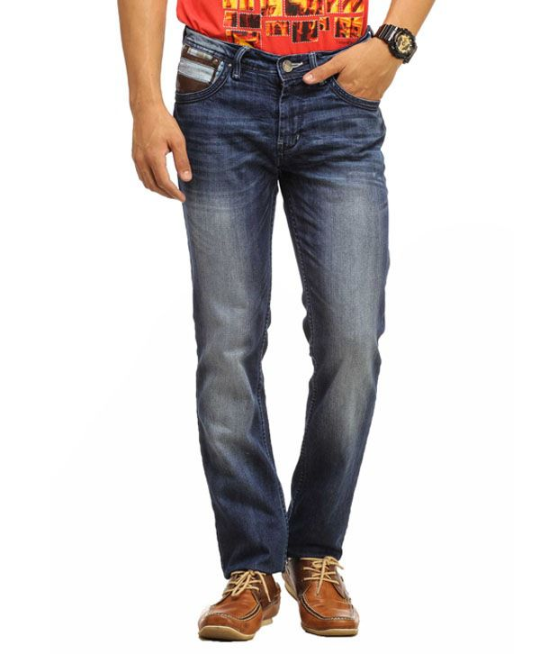 Gesture Blue Regular  Fit Jeans