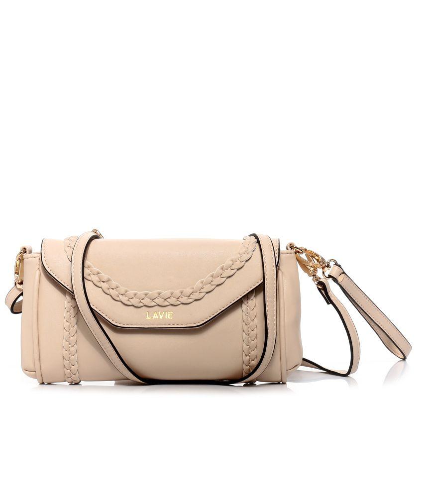 Lavie 8903606032739 Beige Sling Bags