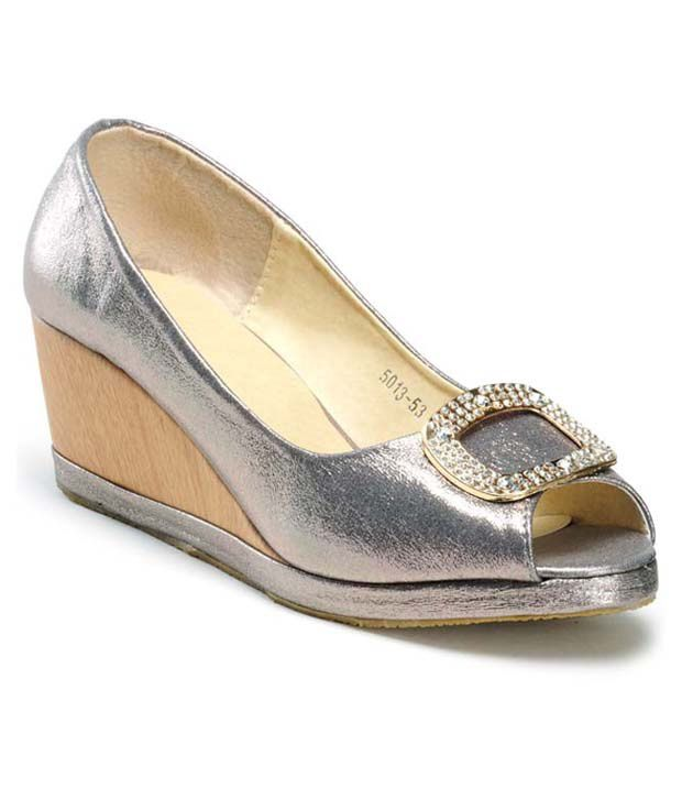Nell Silver Wedges Pumps