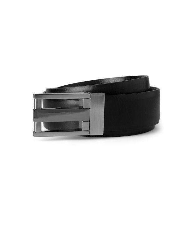 Peter England Black Formal  Belt  ForMen
