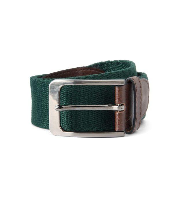 Peter England Green Casual  Belt  ForMen