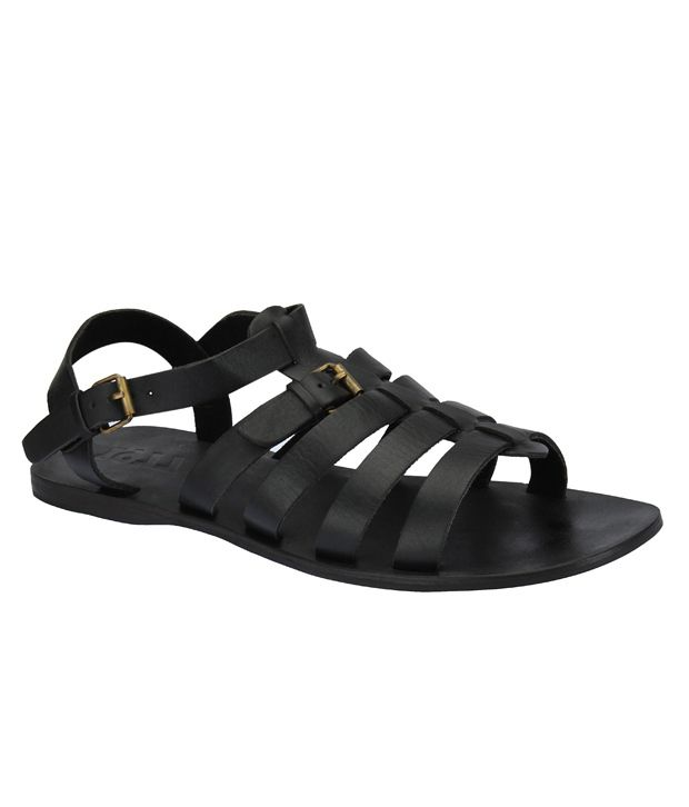 e9577277f6ca Estd. 1977 Black Sandals Price in India- Buy Estd. 1977 Black Sandals  Online at Snapdeal