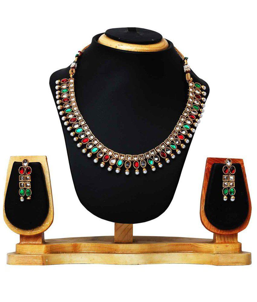 Hawai Ethnic Multicolored Necklace Set