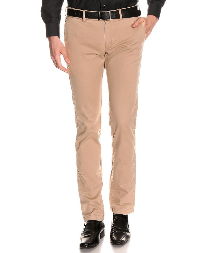Indian Terrain Khaki Slim Semi Formals Flat