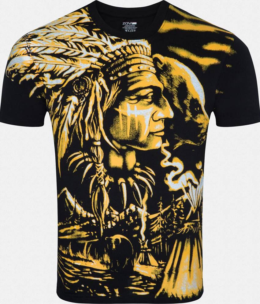 Zovi Black Cotton T-Shirt