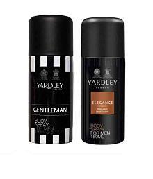 Yardley Men (Elegance, Gentleman) Deo Pack of 2-Each 150 ml