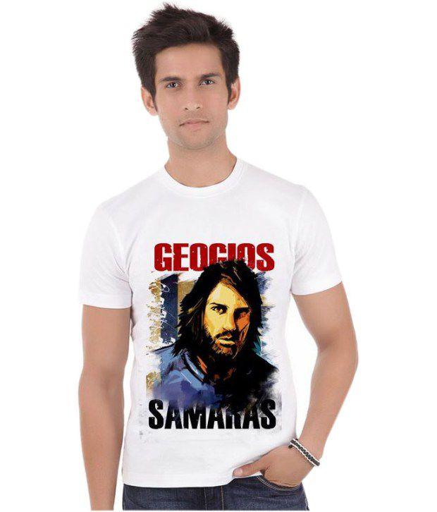 Bluegape Georgios Samaras  Greece Celtic  Fifa World Cup 2014 T-Shirt