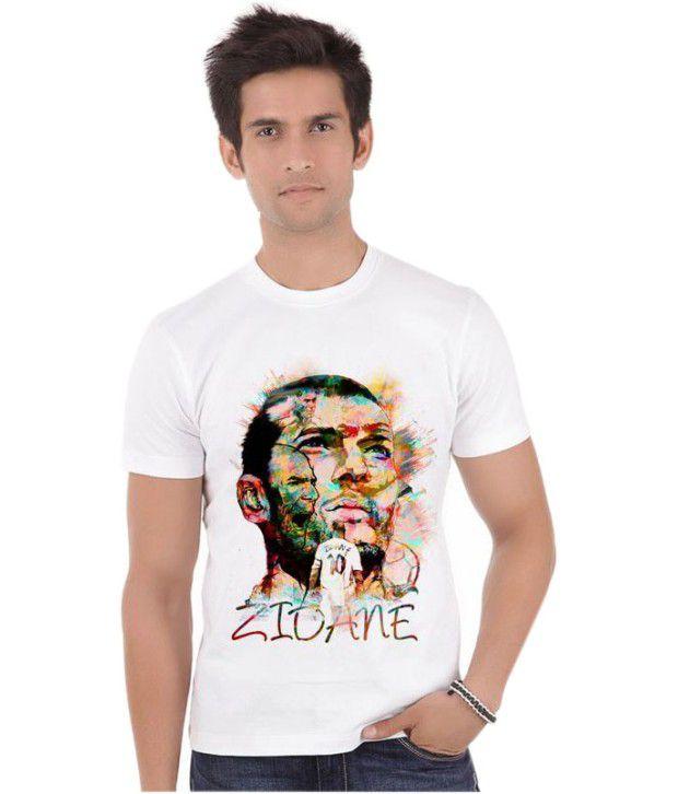 Bluegape Zinedine Zidane France Real Madrid Fifa World Cup 2014 T-Shirt