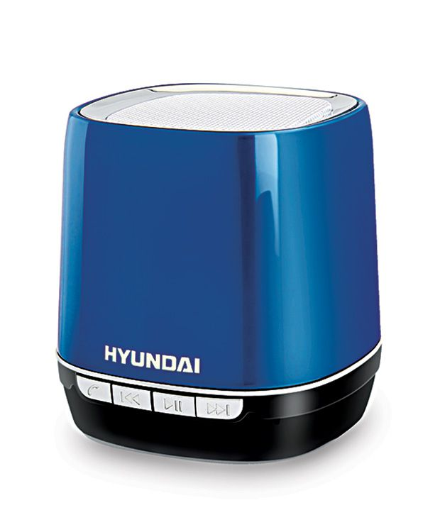 hyundai i80 bluetooth speaker blue buy hyundai i80 bluetooth speaker blue online at best. Black Bedroom Furniture Sets. Home Design Ideas