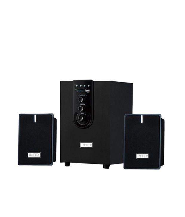 Intex 2.1 Computer M-m Speaker It-1800 w Usb & Sd