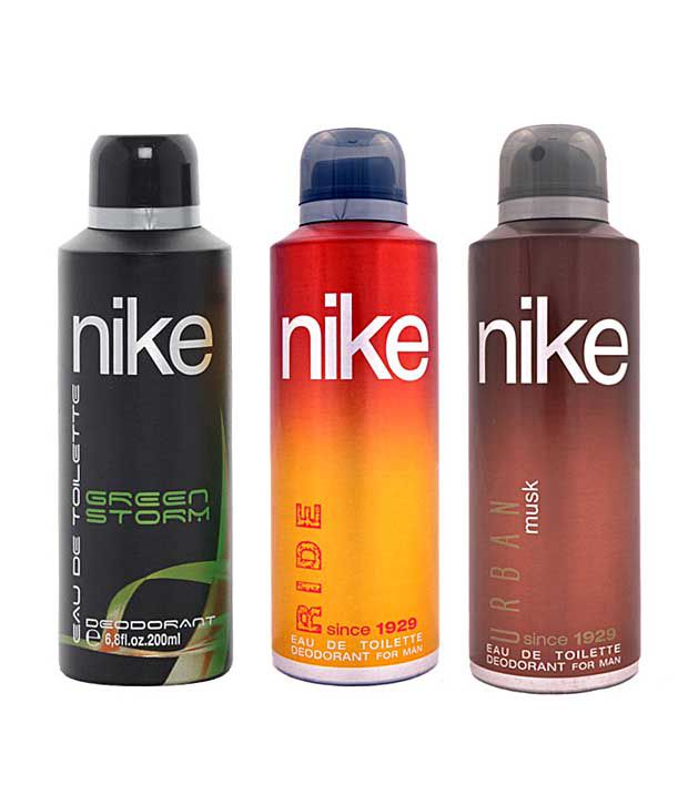 Nike Green Storm, Ride, Urban Musk  Deodorant for Men-200ml Each