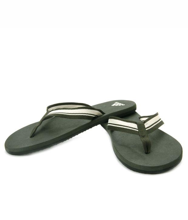 Adidas Green Flip Flops